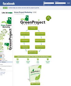 Green Project Marketing's Facebook Welcome Page