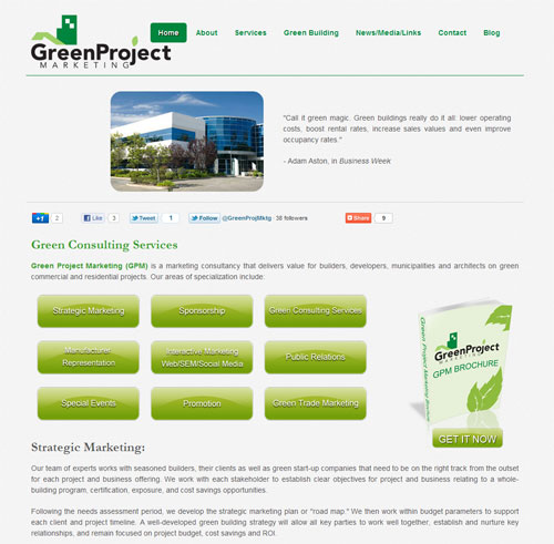 Green Project Marketing Website